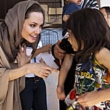 Angelina Jolie met with Syrian refugees in Lebanon in September.