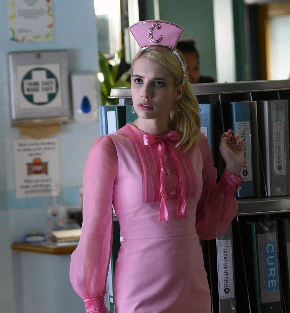 Emma Roberts As Chanel In Scream Queens Emma Roberts Wore A Romantic Fairy Gown A La Scream Queens On The Met Gala S Pink Carpet Popsugar Fashion Photo 4