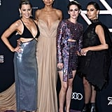 Elizabeth Banks, Ella Balinska, Kristen Stewart, and Naomi Scott at the Charlie's Angels Premiere