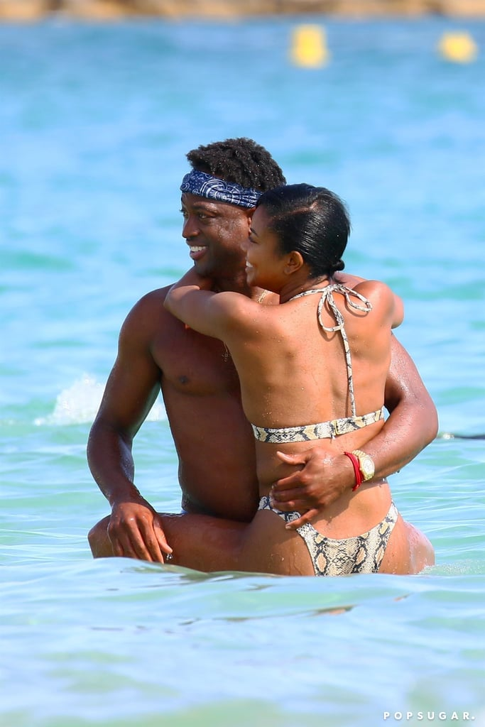 "Not your typical work trip! Dwyane Wade and Gabrielle Union may be in France for the 2019 Cannes Lions International Festival of Creativity, but their family is getting in on the fun. The couple's 7-month-old daughter, Kaavia James, and Dwyane's 12-year-old son, Zion, came along for the trip, and it's a family affair we can't get enough of.  The duo has been hanging out with Ciara and Russell Wilson, spending time together on the beach, and showing some sweet PDA while splashing around in the ocean. They were also able to fit in a few naps between interviews and press junkets. Gabrielle has been promoting her TV show with Jessica Alba, L.A.'s Finest, and on Thursday, she spoke on a panel at Inkwell Beach Cannes for a conversation with CannesCan Diversity Collective. Dwyane also spoke during the Anheuser-Busch session at the festival. Since retiring from the NBA in April, Dwyane has been spending more and more time with his family. He and Gabrielle recently vacationed in Greece, where they filled our feeds with bikini photos and seriously romantic vibes. Now, their trip to France is doing the same, but this time, it's with their ""Shady Baby"" Kaavia and adorable son Zion. Check out photos of Gabrielle and Dwyane's trip to Cannes ahead.      Related:                                                                                                           Dwyane Wade Responded to the ""Surprising"" Backlash He Got For Supporting His Son at Pride"
