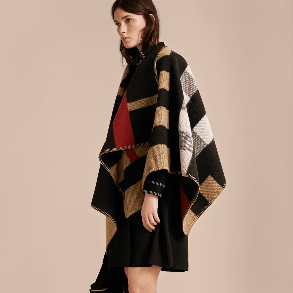 Burberry Check Wool and Cashmere Blanket Poncho ($1,495)