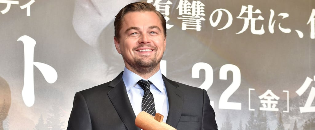 Please Enjoy These Photos of Leonardo DiCaprio Looking Hot While Banging on a Large Wooden Drum