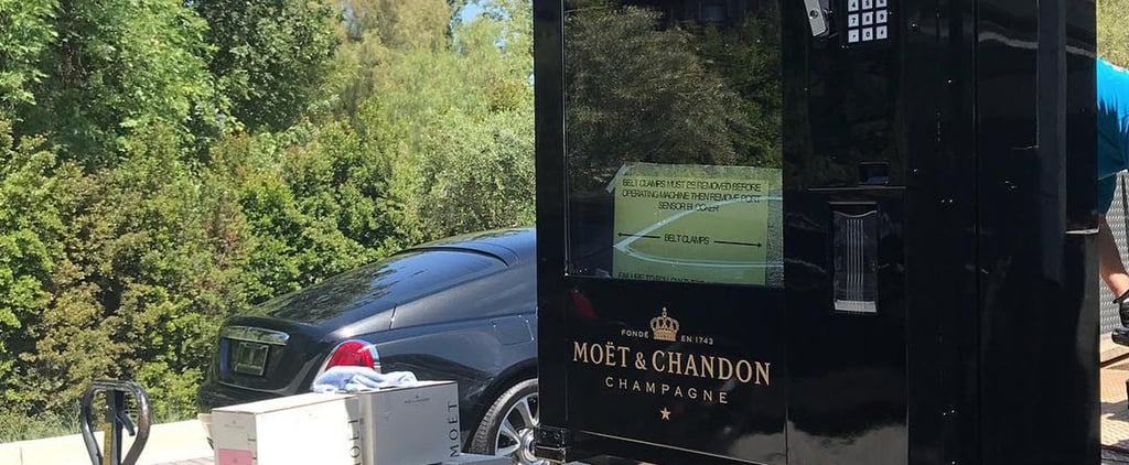 Kris Jenner's Moet & Chandon Champagne Vending Machine