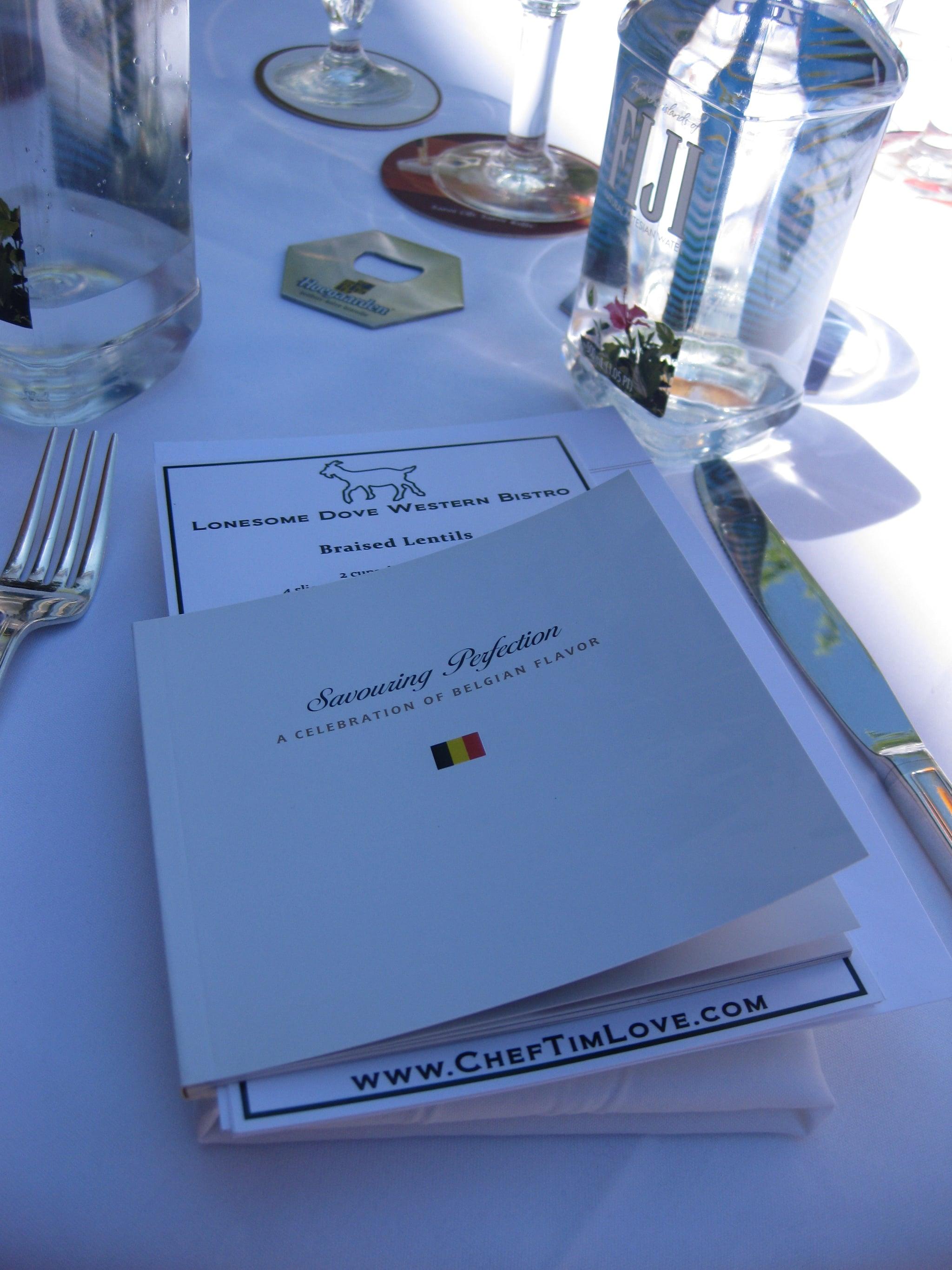 The menu and a recipe booklet.