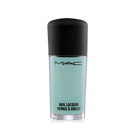 MAC Baking Beauties Nail Lacquer in Pistachio Creme ($16) is a saccharine shade of blue.