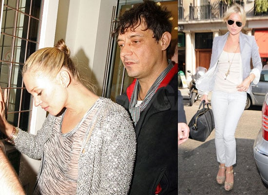 Photos of Kate Moss Leaving Topshop, and with Jamie Hince Out in London