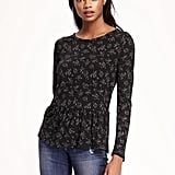 A Peplum Top to Pair With Simple Jeans