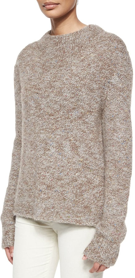The Row Knit Tweed High-Neck Sweater ($890)
