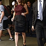 Jennifer Garner walked out of her hotel in NYC.