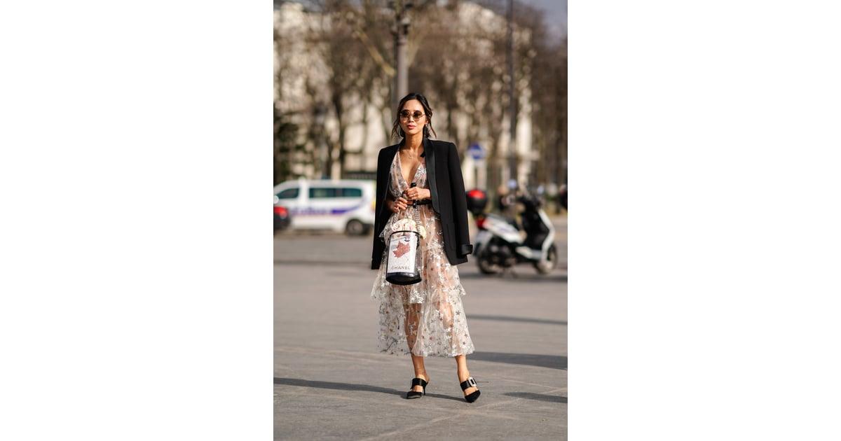 f71c8a793b6 Wear a Tailored Blazer Over a Flirty Dress