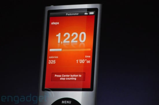 New iPod Nano Has Built-In Pedometer