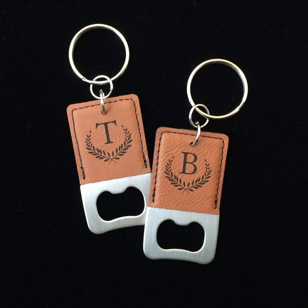 Engraved Bottle Opener Keychain | Unique Stocking Stuffers