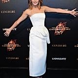 Jennifer Lawrence struck a typically different pose while promoting Catching Fire at Cannes on May 18.