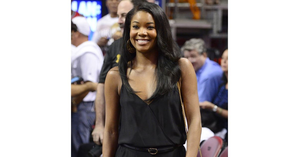 Gabrielle Union And Dwyane Wade Championship 2013 Gabrielle Union at Mia...