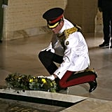Prince Harry laid flowers at the Tomb of the Unknown Soldier.