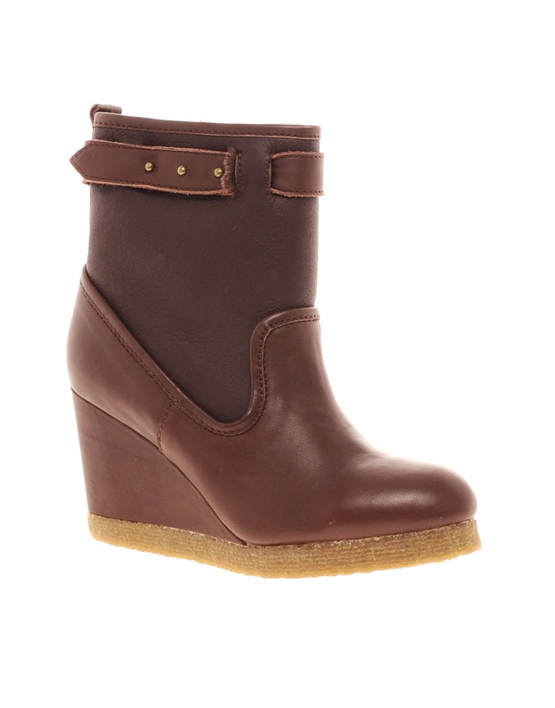 You may not see it, but the inside of this F-Troupe Leather Wedge Ankle Boot ($193, originally $302) reveals a snuggly soft faux fur lining.