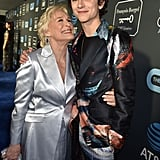 Pictured: Glenn Close and Timothée Chalamet