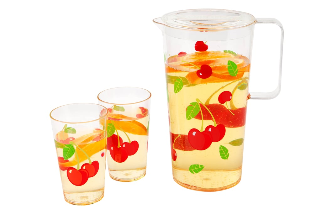 Yes, it's instantly an Summer party when you're drinking from a cherry-printed cup. Party Drinkware Set ($39.95)