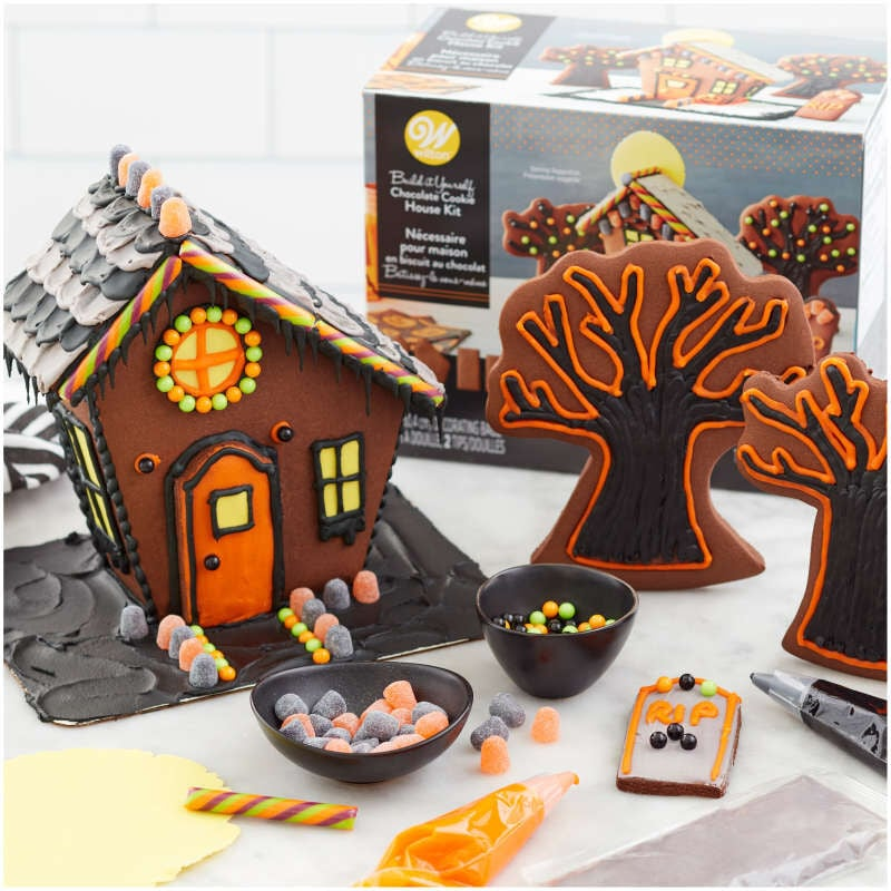 Wilton Build It Yourself Chocolate Cookie Halloween House Decorating Kit