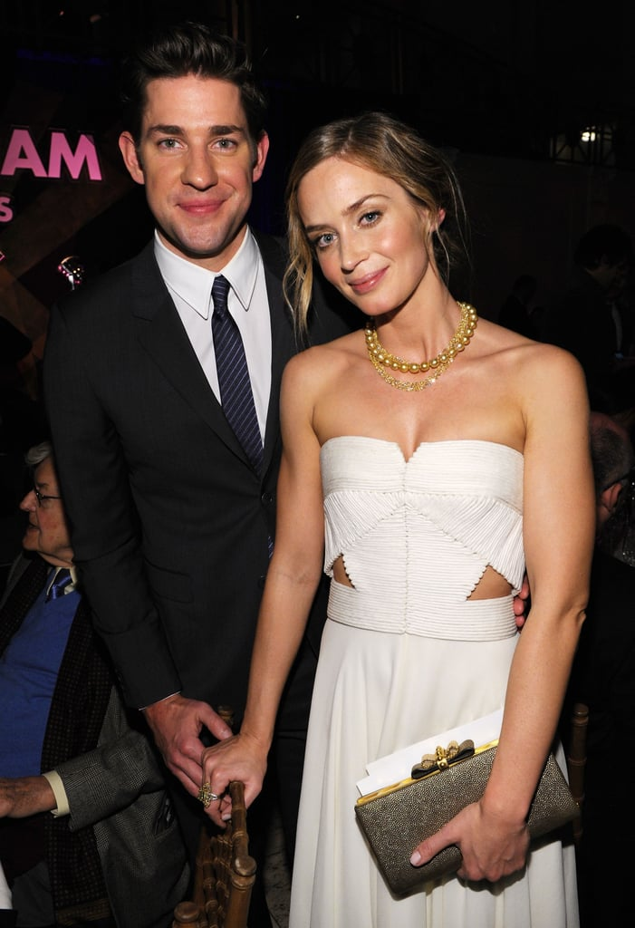 Cute couple alert! John Krasinski and wife Emily Blunt were well-coordinated at the 22nd Annual Gotham Independant Film Awards on November 27.