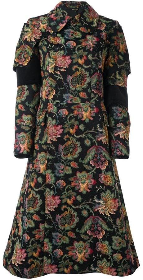 Comme des Garcons Woven Floral Coat