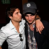 Peter Facinelli leaned in for a kiss from Robert Pattinson during a Twilight event in 2009.