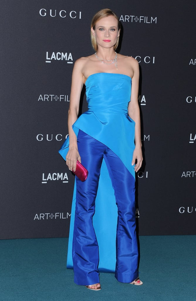 This star is always up for a fashion dare, rocking a layered Monique Lhuillier pants look at the LACMA Art + Film Gala.