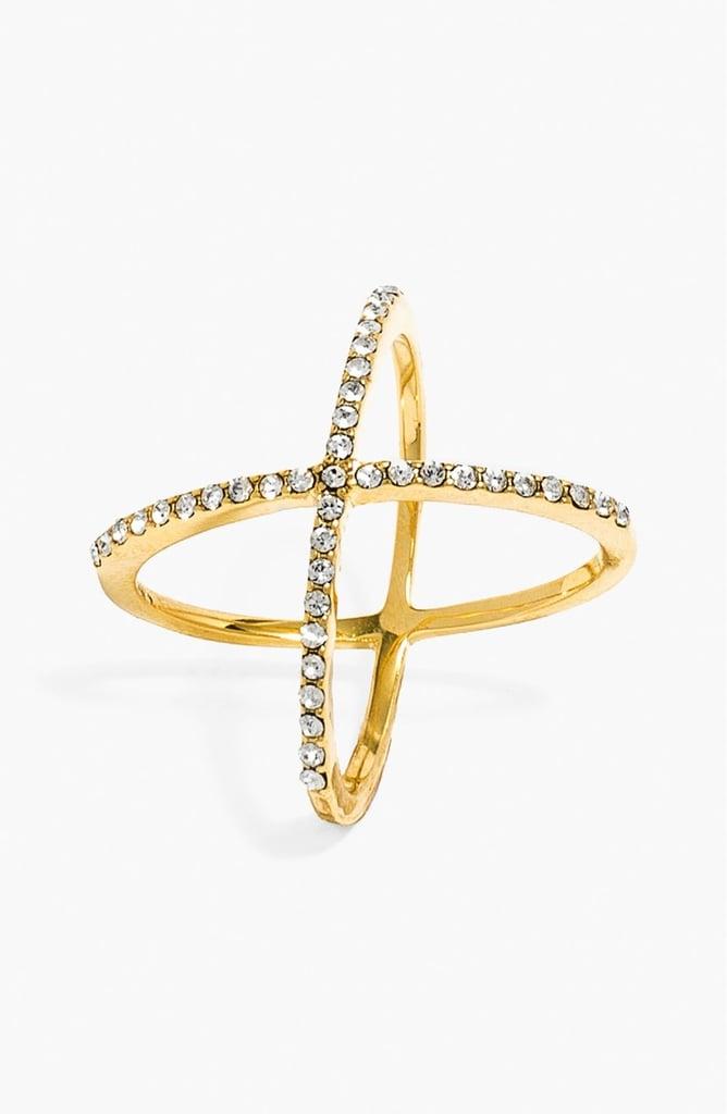 BaubleBar Pave Ring