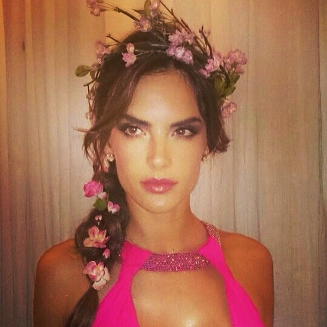 "Alessandra Ambrosio had a flowery day for a Vogue Brazil photo shoot, embracing the ""tropical culture"" on her trip. Source: Instagram user alessandraambrosio"