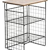 Metal and Wood Folding Shelves