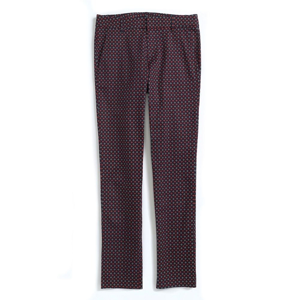A pant with a little pizzazz — scoop up these Tommy Hilfiger stretch twill skinny printed foulard pants ($30, originally $80).