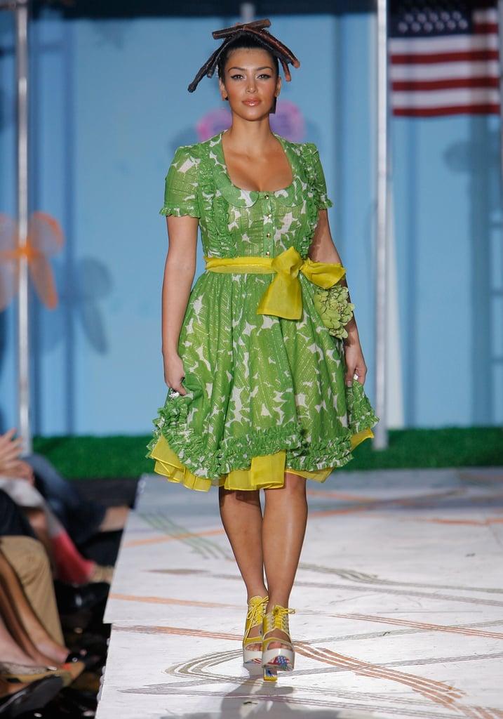Kim Kardashian walked the runway for Heatherette during New York Fashion Week in September 2007.