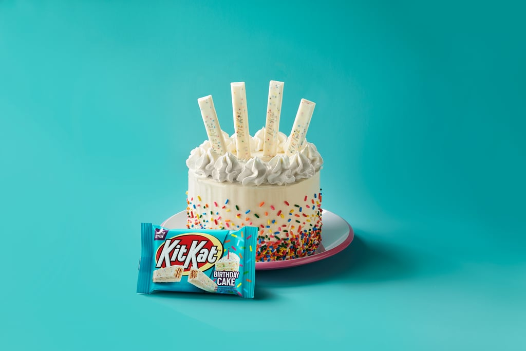 """Kit Kat's newest flavor is cause for celebration. Shortly after the release of Kit Kat's tangy Lemon Crisp Miniatures, the candy brand announced the upcoming launch of Birthday Cake Kit Kats. The limited-edition treat consists of crispy wafers coated in a cake-flavored white crème that's mixed with rainbow sprinkles — it's the first-ever Kit Kat to include sprinkles. (Why did we somehow never consider this a possibility?)  """"Kit Kat Birthday Cake delivers on the universal love of the layers of birthday cake flavor and aroma of frosting perfectly paired with the surprise crunch of sprinkles,"""" said Justin Kukura, Hershey's senior manager of chocolate product development, in a press statement. The festive bars will be available nationwide starting April 2020. Check out a few photos ahead!       Related:                                                                                                           16 of the Best (and Weirdest) Kit Kat Flavors in the World Ranked"""