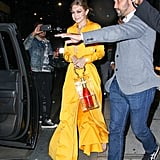 Gigi Hadid's Clear Bag With Champagne Bottle