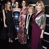 Pictured: Joanne Froggatt, Kevin Doyle, Sophie McShera, Raquel Cassidy, Lesley Nicol, and Phyllis Logan