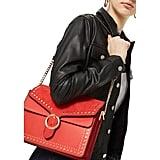 Topshop Peony Studded Shoulder Bag