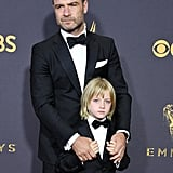 Liev Schreiber and Son at 2017 Emmys