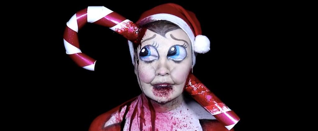 Dead Elf on the Shelf Makeup Tutorial