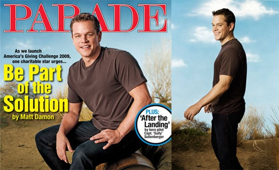 Photos of Matt Damon on the Cover of Parade Magazine