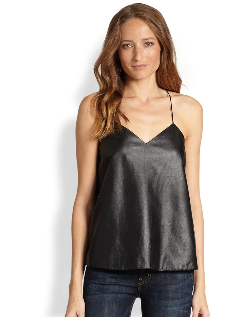 It's no secret I love leather, and this versatile Tibi cami ($365) holds the perfect balance of elegance and edge. Pair it under a blazer for the office, with a sequined party skirt, or over a slim turtleneck and ankle trousers to nail the glam-rock street style vibe. — MV