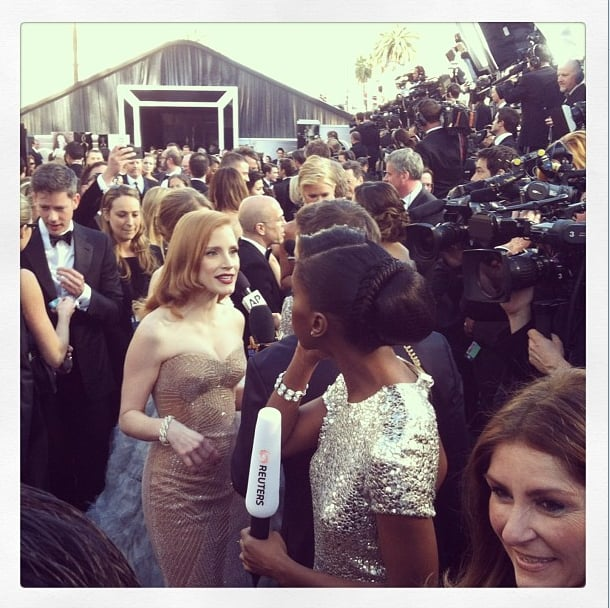 Jessica Chastain oozed Old Hollywood glamour. Source: Instagram user theacademy