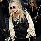 Mary-Kate and Ashley Olsen wore sunglasses in Paris.