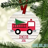 Fire Truck Name/Year Ornament