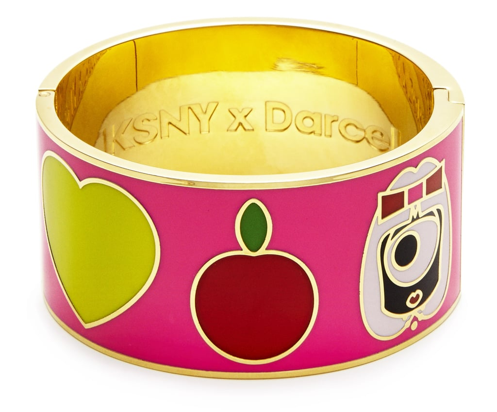 Resident or tourist, celebrate your New York love with this enameled bangle ($148). Photo courtesy of Kate Spade New York