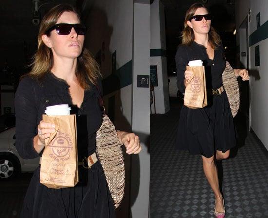 Jessica Biel at the Office