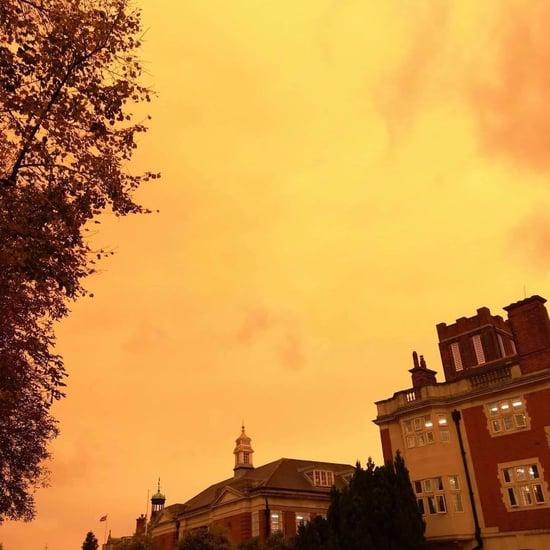 Hurricane Ophelia Turns Sky Yellow, Sun Red in England, UK