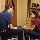 Michael Cera as George Michael and Alia Shawkat as Maeby on Arrested Development.