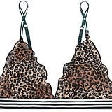 Love Stories - Reggipetto Leopard-print Tulle Soft-cup Triangle Bra