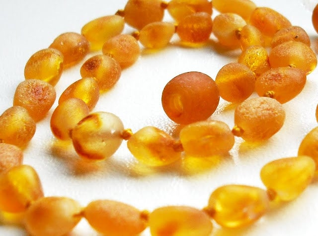 Raw Unpolished Baltic Amber Necklace ($13)