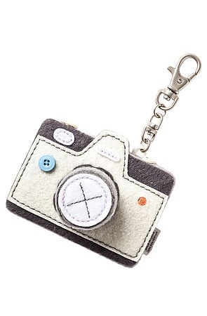 How perfect is this Le Sport Sac The Click Click Yellow Camera Key Chain ($25) for the fashion blogger type?